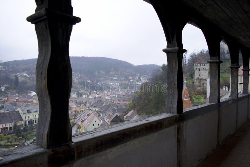 Άποψη στεγών στην παλαιά πόλη στοκ εικόνα με δικαίωμα ελεύθερης χρήσης