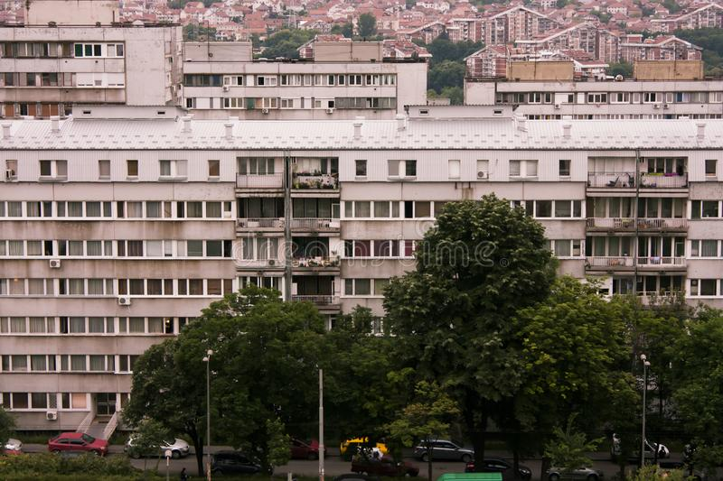 Άποψη στεγών των κτηρίων σε Βελιγράδι, Σερβία στοκ εικόνες