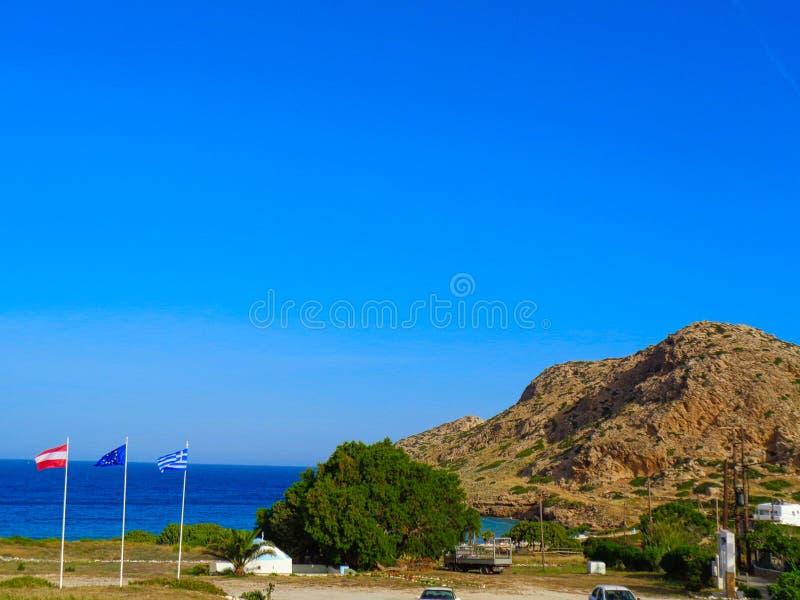 άποψη στον κόλπο στην Ελλάδα στο καλοκαίρι στοκ φωτογραφίες με δικαίωμα ελεύθερης χρήσης