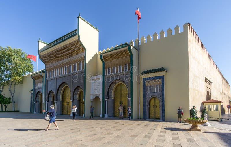 Άποψη στο βασιλικό παλάτι στο Fez - το Μαρόκο στοκ εικόνα με δικαίωμα ελεύθερης χρήσης