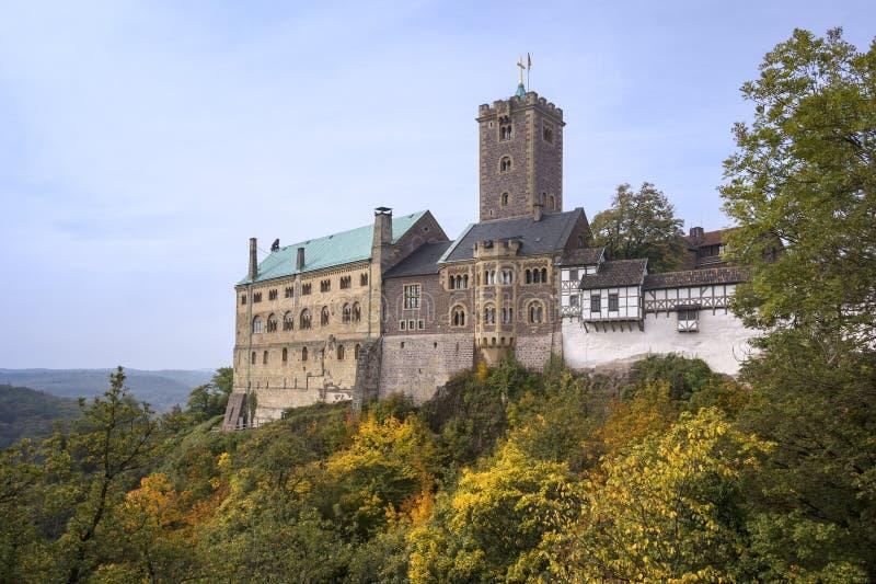 Άποψη στο διάσημο Wartburg Castle Thuringia στοκ εικόνα