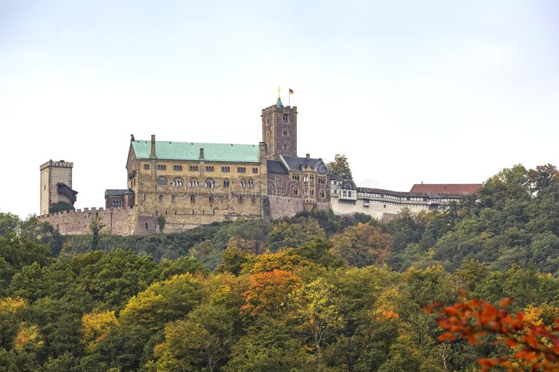 Άποψη στο διάσημο Wartburg Castle Thuringia στοκ φωτογραφία με δικαίωμα ελεύθερης χρήσης