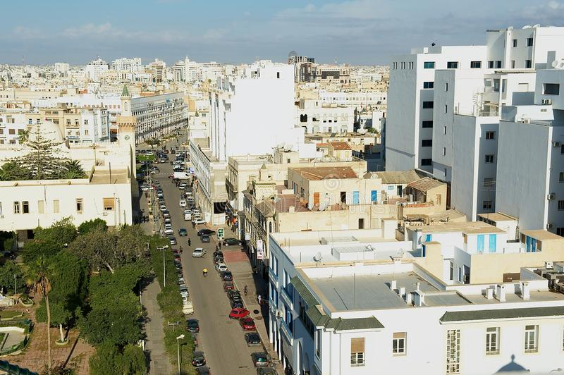 Άποψη στο ιστορικό κέντρο πόλεων Sfax σε Sfax, Τυνησία στοκ φωτογραφία
