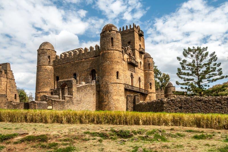 Άποψη στο κάστρο Fasilides στοκ φωτογραφία