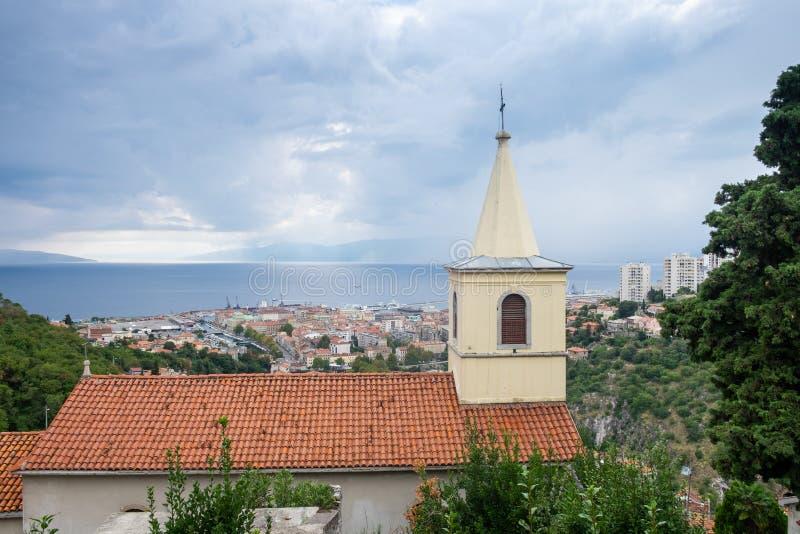 Άποψη σχετικά με την παλαιά πόλη του Rijeka στοκ φωτογραφίες