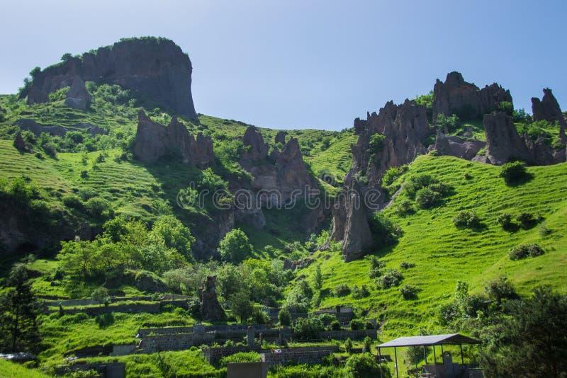 Άποψη σχετικά με την πόλη σπηλιών, οριζόντια στοκ εικόνες