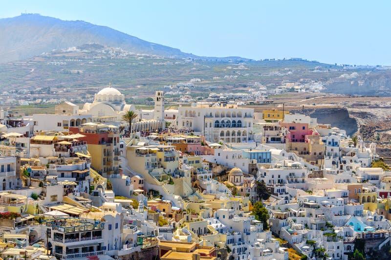 Άποψη σχετικά με την πόλη Thira στοκ εικόνες