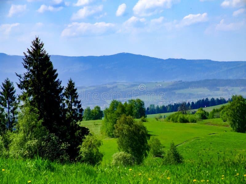 """Άποψη σχετικά με το εθνικό πάρκο σκι GorczaÅ """"στην Πολωνία στοκ φωτογραφία με δικαίωμα ελεύθερης χρήσης"""