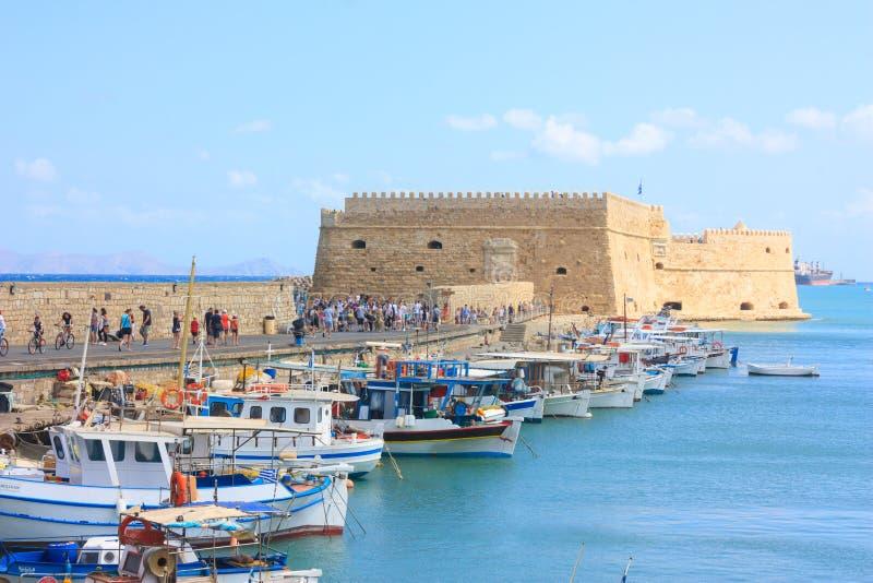 Άποψη σχετικά με το οχυρό Ηράκλειο στο νησί της Κρήτης στοκ φωτογραφίες με δικαίωμα ελεύθερης χρήσης