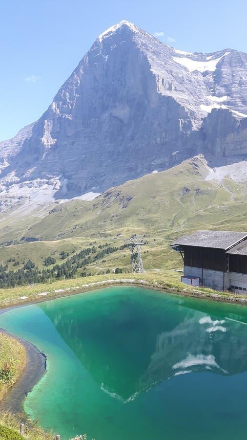 Άποψη σχετικά με Eiger στοκ εικόνες
