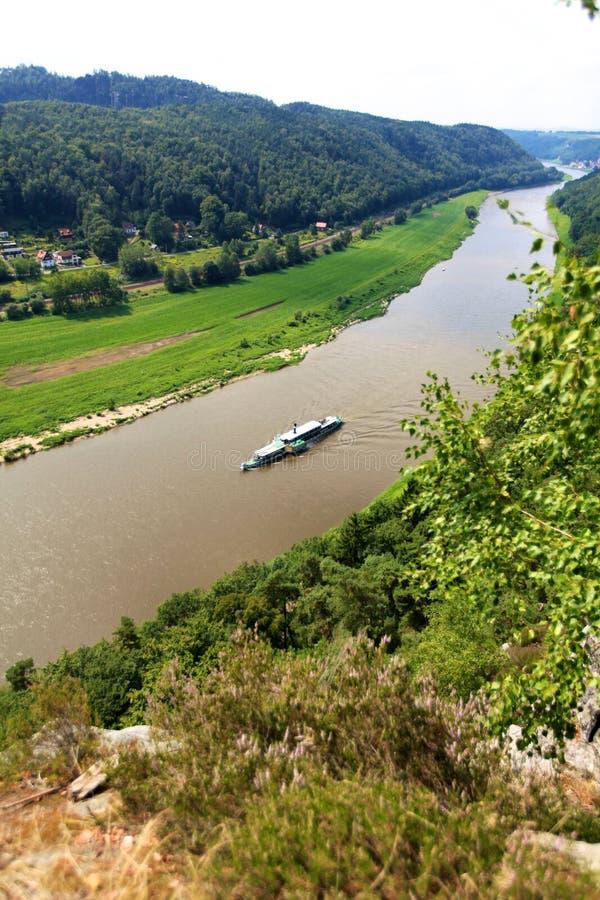 Άποψη σχετικά με Elbe στοκ εικόνα με δικαίωμα ελεύθερης χρήσης