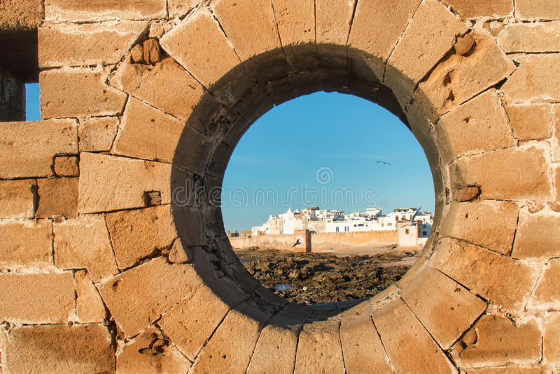 Άποψη σχετικά με Essaouira, Μαρόκο στοκ εικόνες