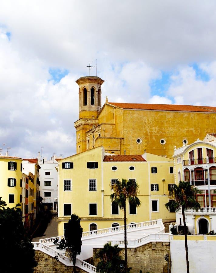 Άποψη σχετικά με Plaza de Espana, Mahon, Menorca στοκ φωτογραφίες με δικαίωμα ελεύθερης χρήσης