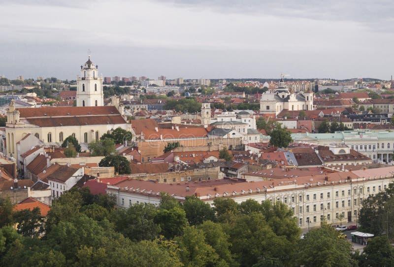 Άποψη σχετικά με Vilnius από τη στέγη στοκ εικόνα