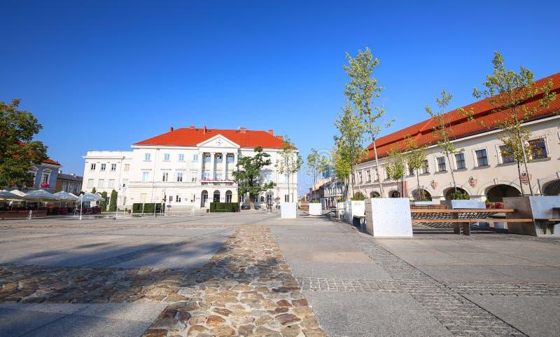 Άποψη της αγοράς στο Kielce/την Πολωνία στοκ φωτογραφία με δικαίωμα ελεύθερης χρήσης