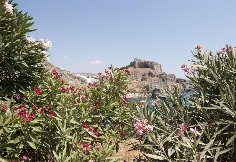 Άποψη της ακρόπολη Lindos στοκ φωτογραφίες