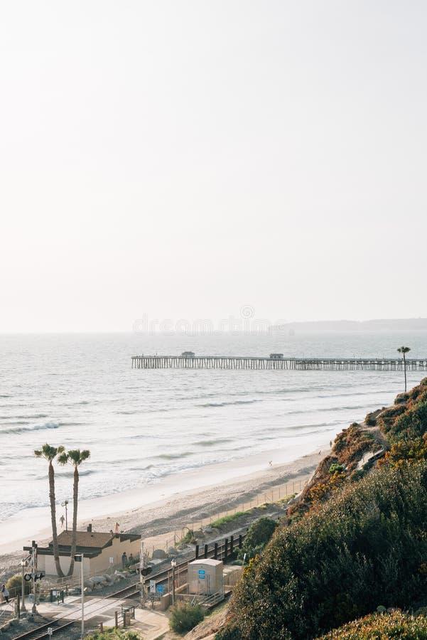 Άποψη της αποβάθρας στο Σαν Κλεμέντε, Κομητεία Orange, Καλιφόρνια στοκ εικόνες