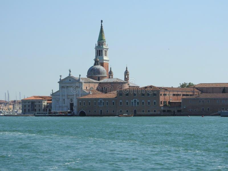 Άποψη της Βενετίας, της Ιταλίας και της άλλης αρχιτεκτονικής του από το μεγάλο κανάλι, σαφής ημέρα στοκ φωτογραφίες