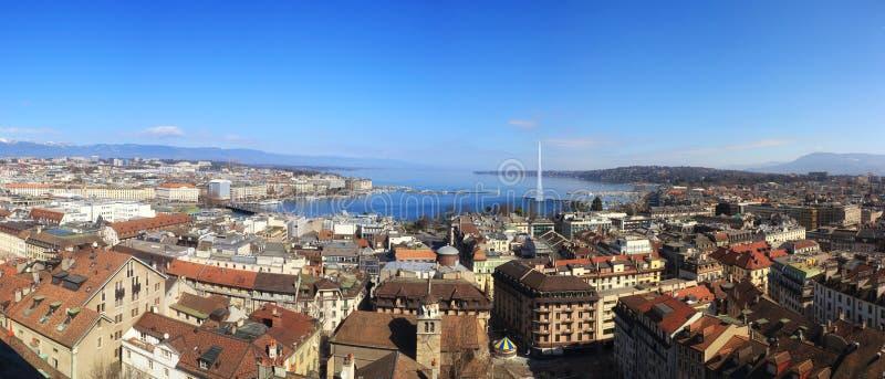 Άποψη της Γενεύης στοκ φωτογραφία με δικαίωμα ελεύθερης χρήσης
