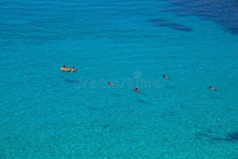 Άποψη της διασημότερης θέσης θάλασσας Lampedusa, conigli dei Spiaggia στοκ φωτογραφία με δικαίωμα ελεύθερης χρήσης