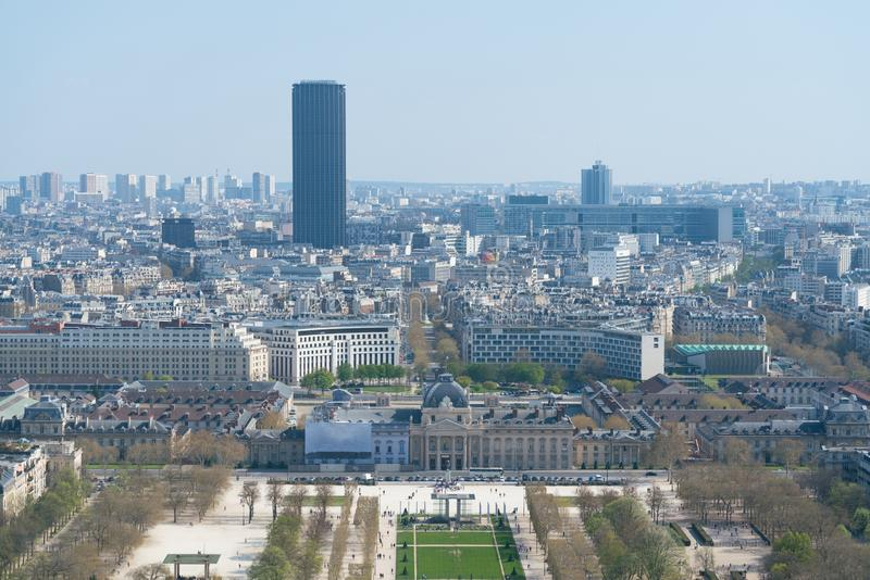 Άποψη της εικονικής παράστασης πόλης του Παρισιού, Γαλλία με σημαντικά θέλγητρα του Παρισιού στοκ φωτογραφίες με δικαίωμα ελεύθερης χρήσης