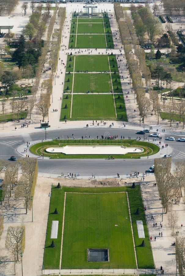 Άποψη της εικονικής παράστασης πόλης του Παρισιού, Γαλλία με σημαντικά θέλγητρα του Παρισιού στοκ εικόνες