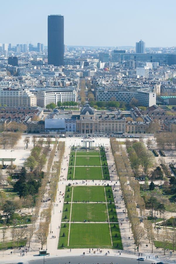 Άποψη της εικονικής παράστασης πόλης του Παρισιού, Γαλλία με σημαντικά θέλγητρα του Παρισιού στοκ εικόνα με δικαίωμα ελεύθερης χρήσης