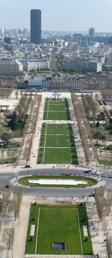 Άποψη της εικονικής παράστασης πόλης του Παρισιού, Γαλλία με σημαντικά θέλγητρα του Παρισιού στοκ εικόνες με δικαίωμα ελεύθερης χρήσης