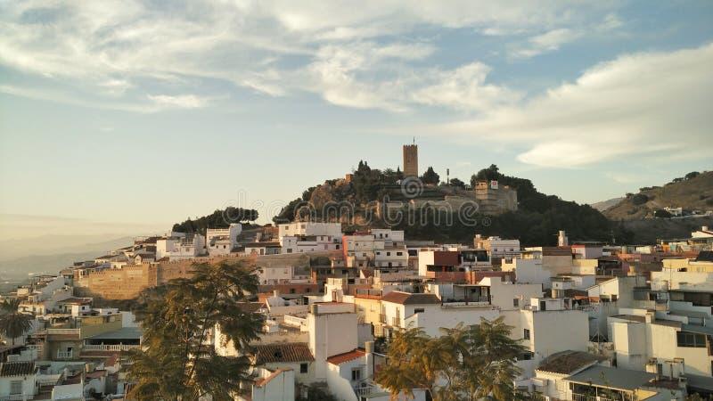 Άποψη της ειρηνικής ανδαλουσιακής πόλης στοκ εικόνα με δικαίωμα ελεύθερης χρήσης