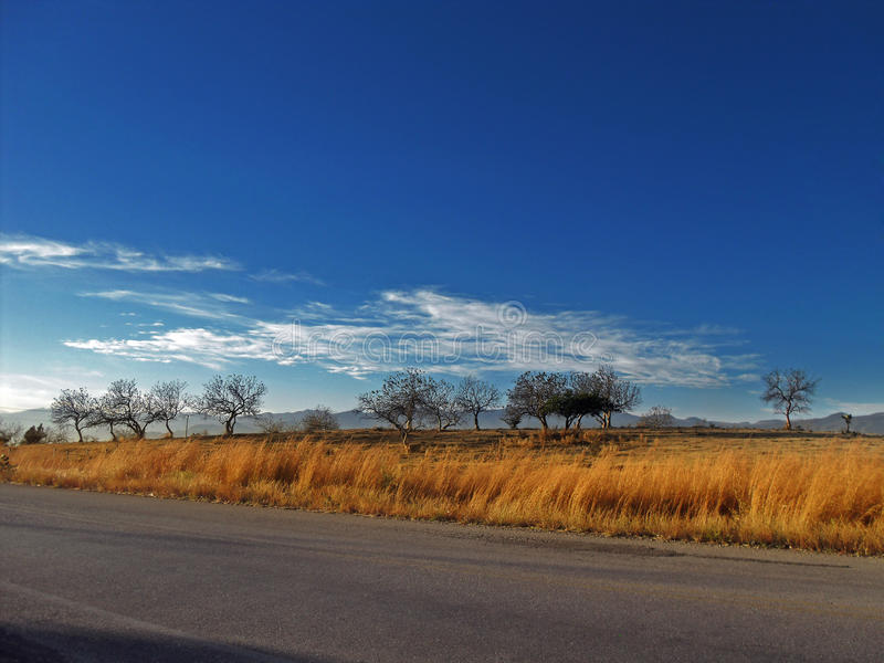 Άποψη της επαρχίας στο δρόμο στοκ εικόνες
