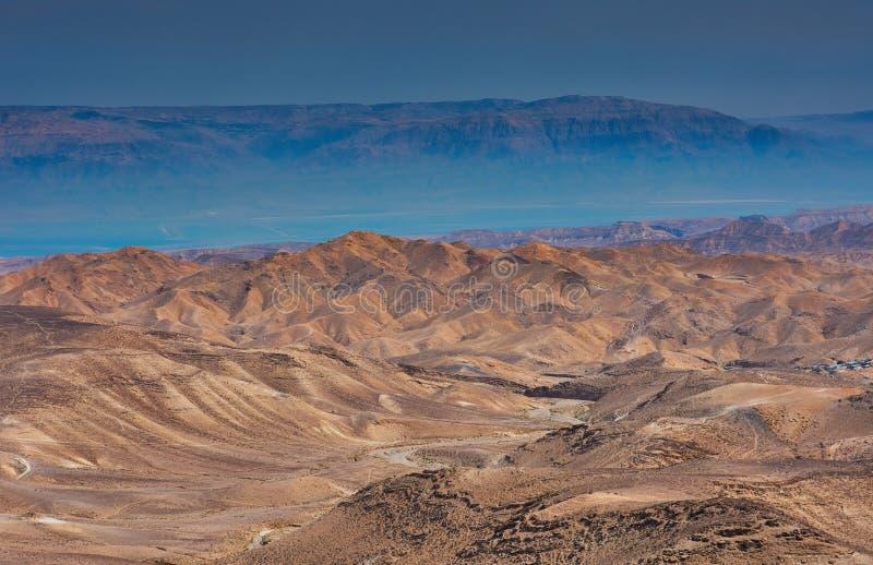 Άποψη της ερήμου Judean στο Ισραήλ στοκ εικόνες