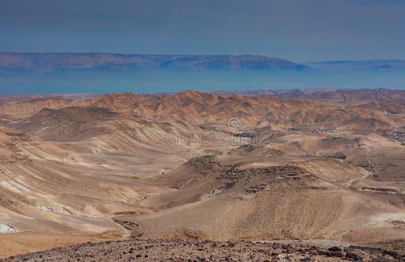 Άποψη της ερήμου Judean στο Ισραήλ στοκ φωτογραφία