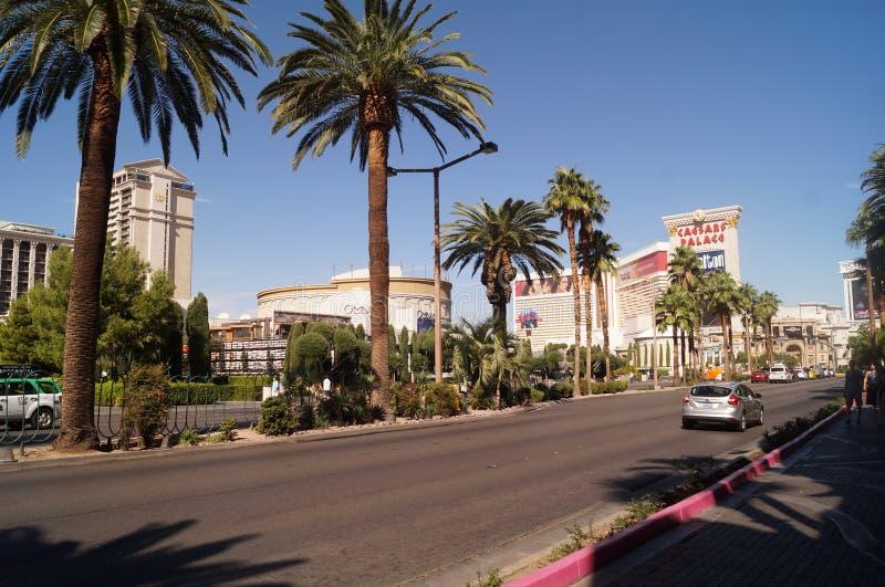 Άποψη της λεωφόρου του Λας Βέγκας και του ξενοδοχείου του Caesars Palace στοκ εικόνες