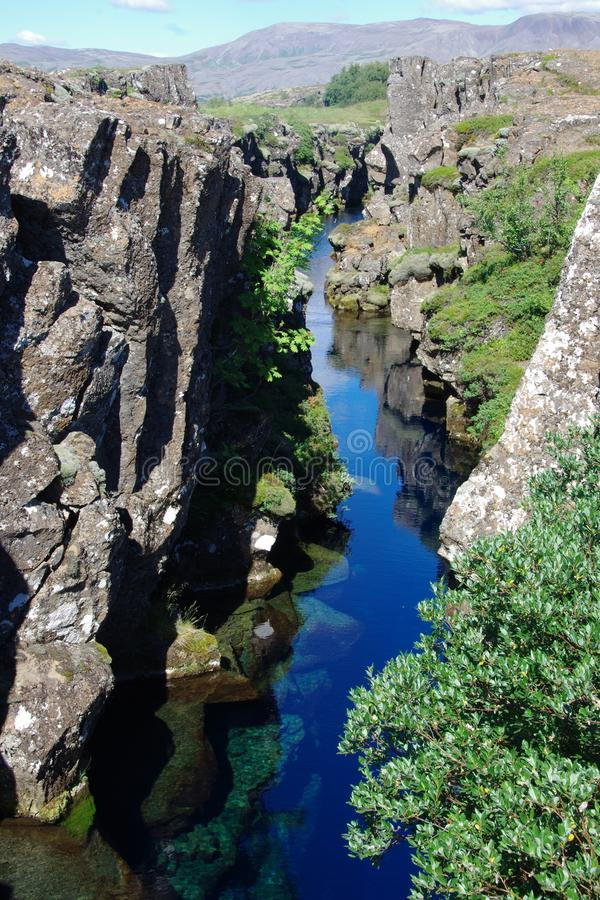 Άποψη της Ισλανδίας από τη χρυσή περιοχή κύκλων Pingvellir στοκ εικόνες