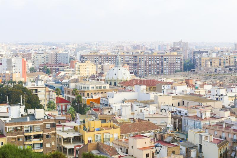 Άποψη της ισπανικής πόλης της Καρχηδόνας στοκ εικόνα