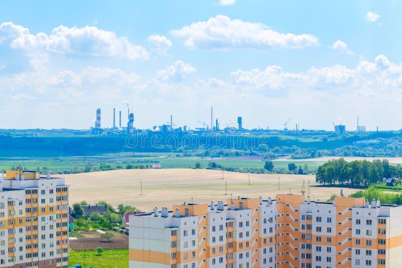 Άποψη της κατοικημένης περιοχής στοκ φωτογραφίες