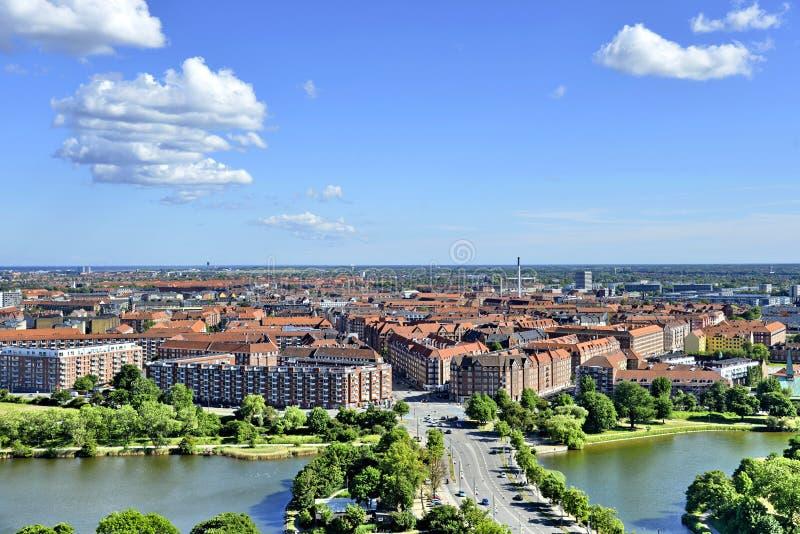 Άποψη της Κοπεγχάγης, Δανία στοκ εικόνες