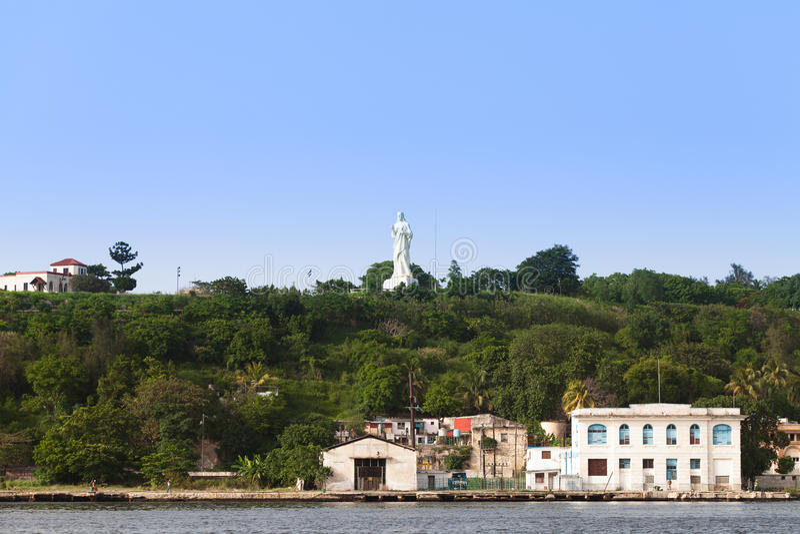 Άποψη της Κούβας Αβάνα από τον περίπατο στο άγαλμα Χριστού στοκ εικόνα με δικαίωμα ελεύθερης χρήσης