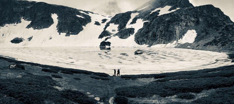 Άποψη της λίμνης δακρυ'ων, βουνό Rila, οι επτά λίμνες Rila, Βουλγαρία στοκ φωτογραφίες με δικαίωμα ελεύθερης χρήσης