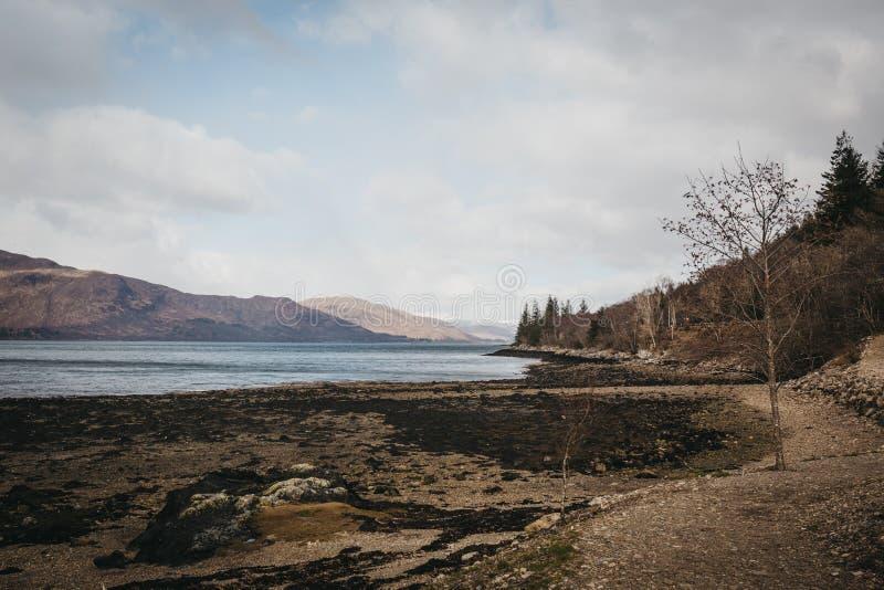 Άποψη της λίμνης Eil, οχυρό William, Σκωτία στοκ εικόνες με δικαίωμα ελεύθερης χρήσης