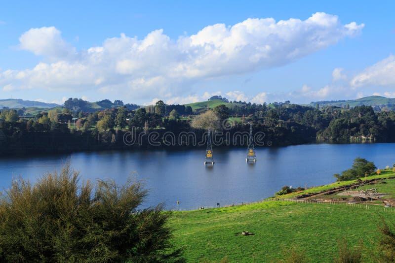 Άποψη της λίμνης Karapiro, Νέα Ζηλανδία στοκ φωτογραφίες με δικαίωμα ελεύθερης χρήσης
