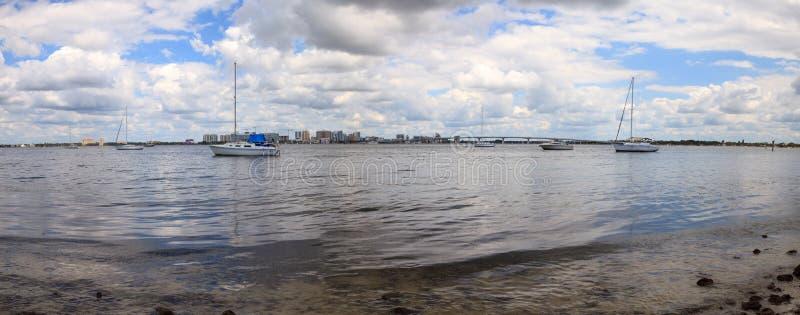 Άποψη της Λεωφόρου των Προέδρων του Ken Thompson Boat Ramp στοκ εικόνα με δικαίωμα ελεύθερης χρήσης
