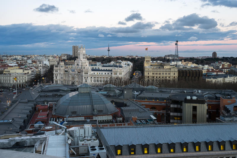 Άποψη της Μαδρίτης από circulo de bellas artes στοκ φωτογραφίες