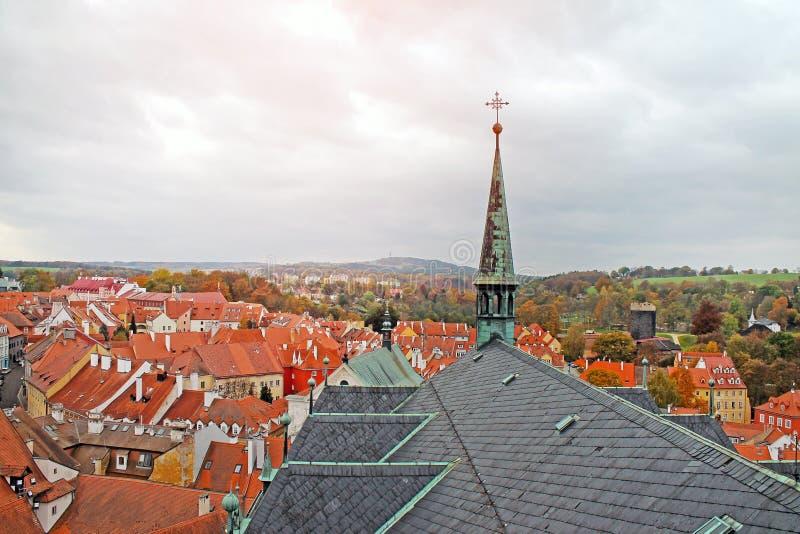 Άποψη της μεσαιωνικής πόλης Cheb, Τσεχία στοκ εικόνα