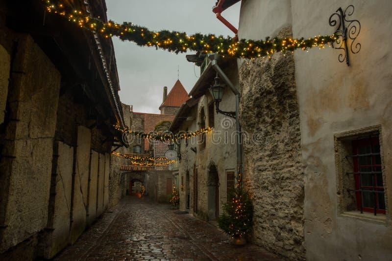 Άποψη της μετάβασης του ST Catherine ` s, παλαιά πόλη του Ταλίν, Εσθονία στοκ φωτογραφίες