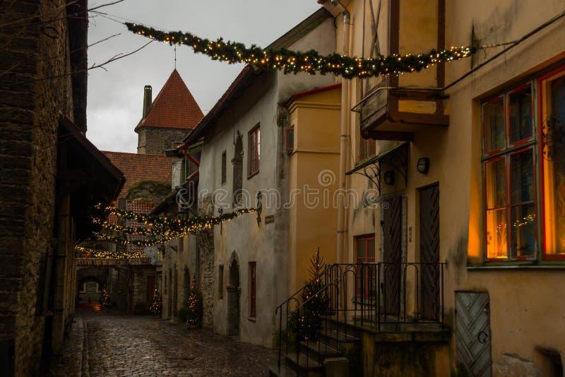 Άποψη της μετάβασης του ST Catherine ` s, παλαιά πόλη του Ταλίν, Εσθονία στοκ εικόνες με δικαίωμα ελεύθερης χρήσης
