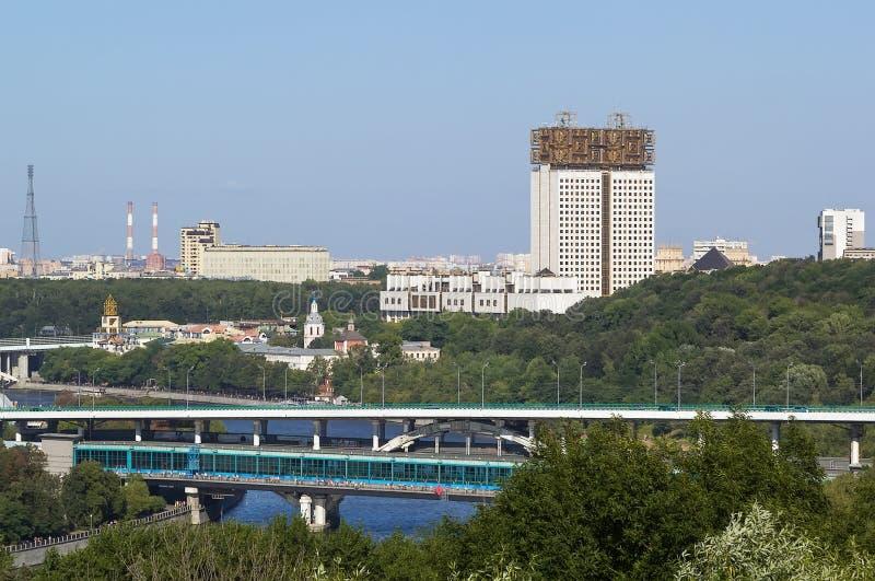 Άποψη της Μόσχας από τους λόφους σπουργιτιών, Ρωσία στοκ εικόνες