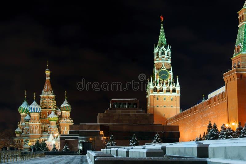 Άποψη της Μόσχας νύχτας στοκ εικόνα