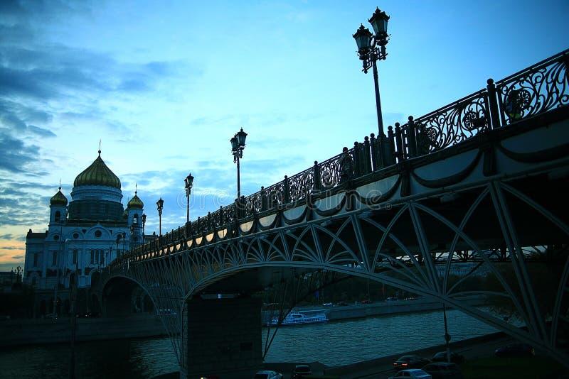 Άποψη της Μόσχας νύχτας στοκ φωτογραφίες