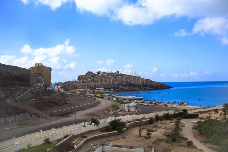 Άποψη της Νίκαιας του Κόλπου του Aden στην Υεμένη στοκ εικόνες